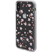 Clear Coat Case for iPhone XR - Rhinestone Floral Bunch