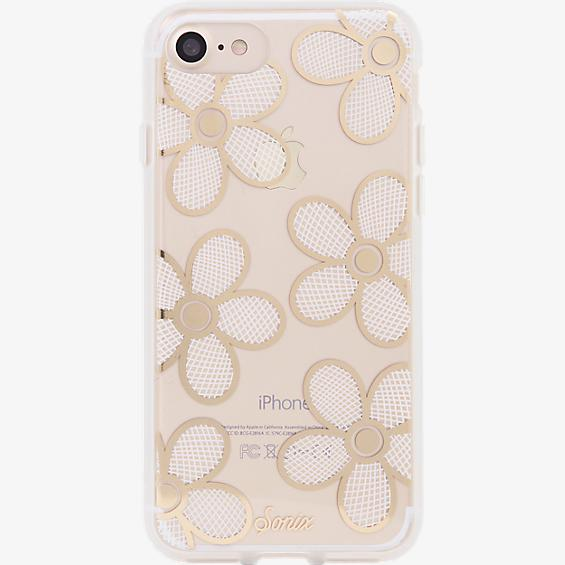 ClearCoat Case for iPhone 7- Crochet Daisy/White