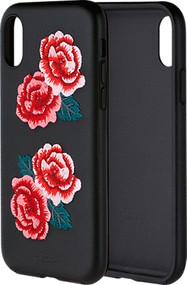 official photos 4d8f4 ae92e Embroidered Leather Case for Apple iPhone XS/X