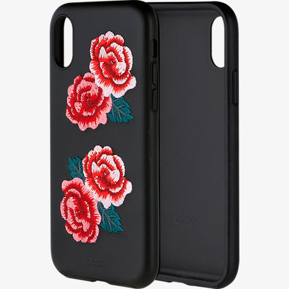 Embroidered Leather Case for Apple iPhone X