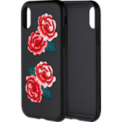Embroidered Leather Case for Apple iPhone X - Flora