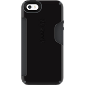 CandyShell Card for iPhone SE - Black/Grey
