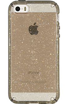 0023c0ae64f CandyShell Case for iPhone SE - Clear Gold Glitter   Verizon Wireless