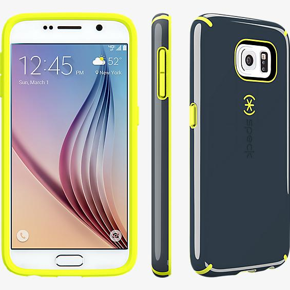CandyShell for Samsung Galaxy S 6 - Charcoal Grey-Anti-Freeze Yellow