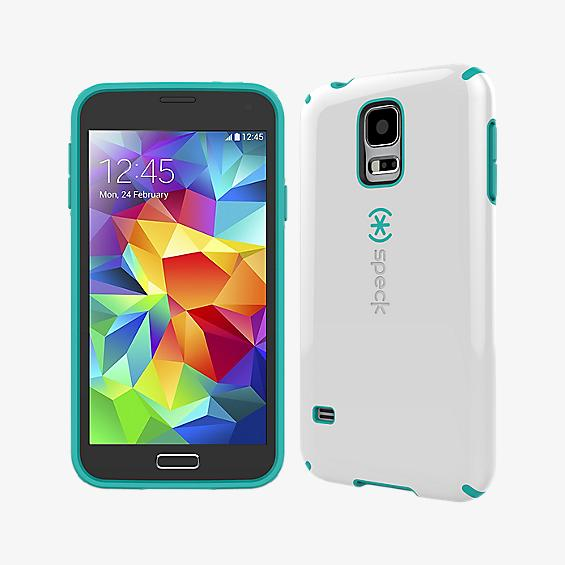 CandyShell for Galaxy S 5 - White with Teal
