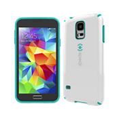 Speck CandyShell for Galaxy S 5 - White with Teal