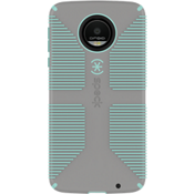 CandyShell Grip Case for Moto Z Droid - Sand Grey/Aloe Green