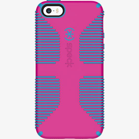 CandyShell Grip for iPhone SE - Lipstick Pink/Jay Blue