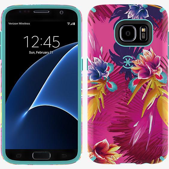 CandyShell INKED Samsung Galaxy S7- Wild Tropic Fucshia
