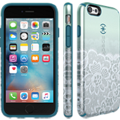 CandyShell INKED Luxury for iPhone 6/6s - Scalloped Lace/Teal Green