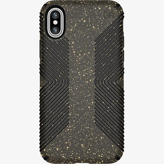 Presidio Grip Black Glitter for iPhone X