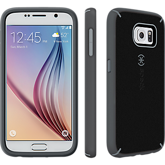 Speck MightyShell for Samsung Galaxy S 6 - Black-Gravel Grey/Slate Grey