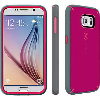 Speck MightyShell for Samsung Galaxy S 6 - Fuchsia Pink/Cupcake Pink/Heritage Grey