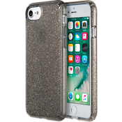 Presidio Clear Glitter Case for iPhone 7 - Onyx Black/Gold