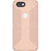 Presidio Grip + Glitter Case for Pixel 2 XL - Bella Pink With Gold Glitter/Dahlia Peach
