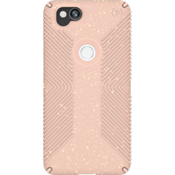 Presidio Grip + Glitter Case for Pixel 2 - Bella Pink With Gold Glitter/Dahlia Peach