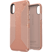 Presidio Grip + Glitter Case for iPhone XS/X - Bella Pink/Peach
