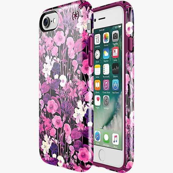 Presidio Inked Flower Etch Case for iPhone 7 - Pink Metallic/Magenta Pink