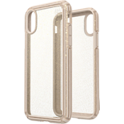 Presidio V-Grip Case for iPhone XS/X - Clear/Gold