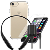 Speck Presido Clear Case for iPhone 7 Headset Bundle