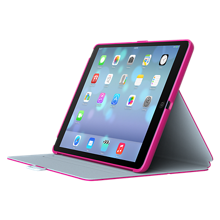 Speck StyleFolio for iPad mini 3 - Fuschia Pink/Nickel Grey