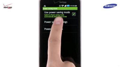 Samsung Stratosphere Power Saving Mode