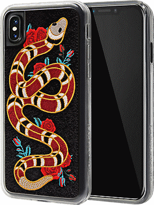 new arrival 241a4 7bbbc Strike Embroidered Case for iPhone XS/X