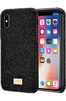 new product 528d7 e9812 Swarovski High Smartphone Case with Bumper for iPhone X - Black - Swarovski