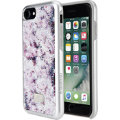 Crystal Flower Smartphone Case with Bumper for iPhone 8/7/6 - Multi Color