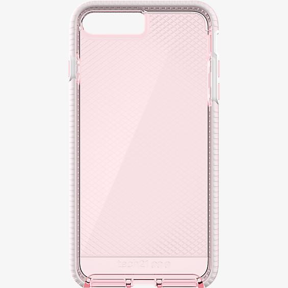 Evo Check Case for iPhone 8 Plus/7 Plus - Light Rose/White