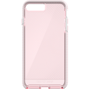 Evo Check Case for iPhone 7 Plus - Light Rose/White