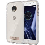 Evo Check Case for Moto Z Play Droid - Clear/White