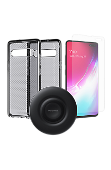 new arrival 2235d 09c4c Tech21 Evo Check Case, Protection and Wireless Charging Bundle for Galaxy  S10 5G
