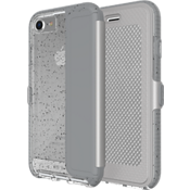 Evo Wallet Active Edition Case for iPhone 7 - Reflective Grey