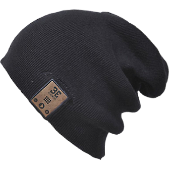 BE Headwear 24/7 Tall Fit Bluetooth Beanie - Black