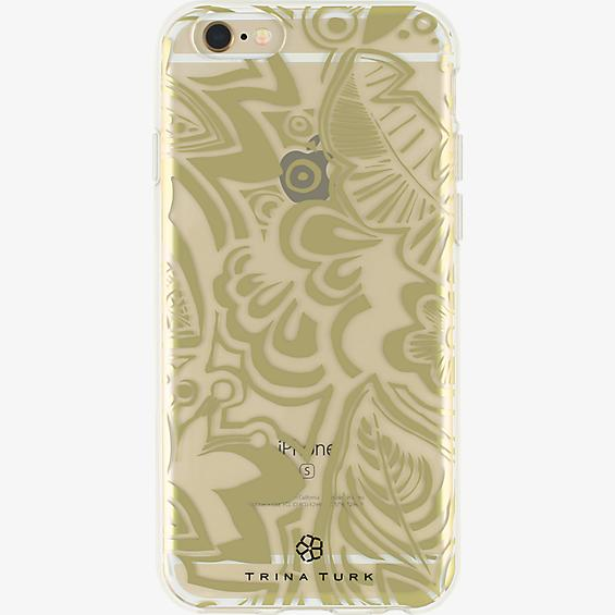 Trina Turk Translucent Case (1-pc) for iPhone 6/6s - Flat Tropics Gold/Clear
