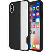 2-PC Slider Case for iPhone X - Black/Silver
