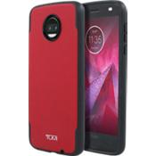 Coated Canvas Co-Mold Case for moto z2 force edition - Red