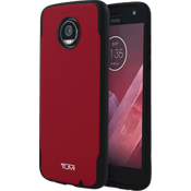Coated Canvas Co-Mold Case for Moto Z2 Play - Red