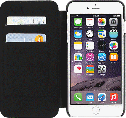 newest 9c443 5f036 Folio for iPhone 6 Plus/6s Plus - Black Leather