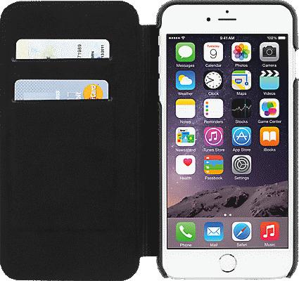 newest 9318f 392d3 Folio for iPhone 6 Plus/6s Plus - Black Leather