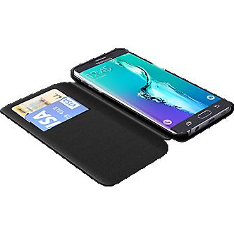 TUMI Folio Case for Samsung Galaxy S 6 edge+ - Black Leather