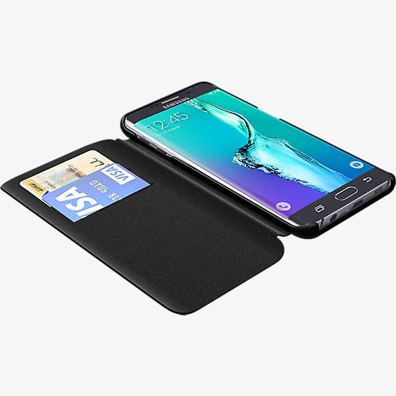 Folio Case for Samsung Galaxy S 6 edge+ - Black Leather