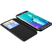 TUMI Folio Case for Samsung Galaxy S 6 edge+ - Black Leather