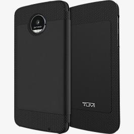 Folio Case for Moto Z Droid - Full Grain Leather Black
