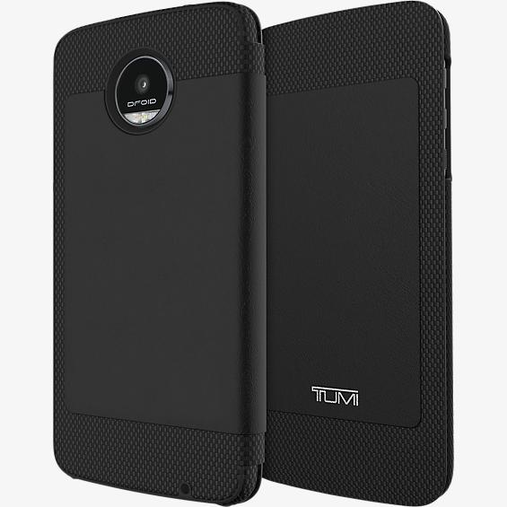 Folio Case for Moto Z Droid - Full Grain Leather Black