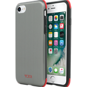 Protection Case for iPhone 7  - Brushed Gunmetal/Red