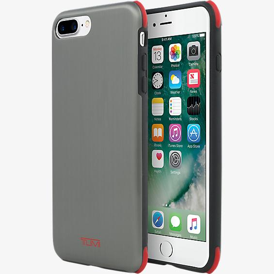Protection Case for iPhone 7 Plus - Brushed Gunmetal/Red