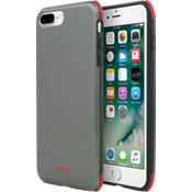 Protection Case for iPhone 8 Plus/7 Plus - Brushed Gunmetal/Red
