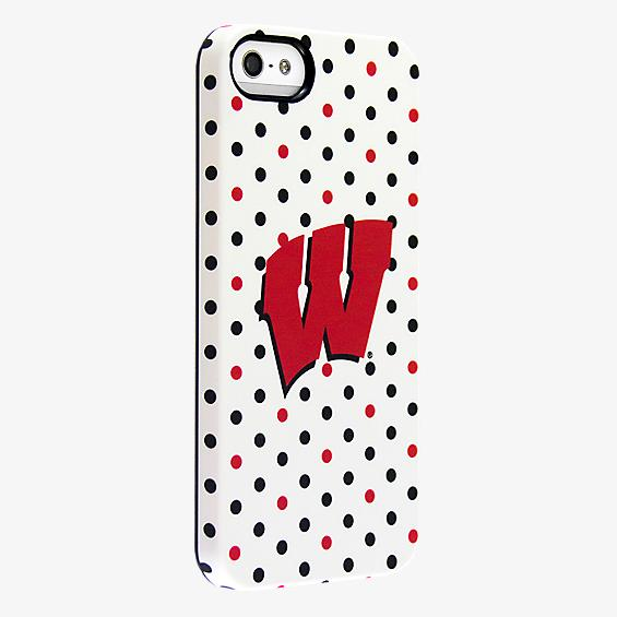 University of Wisconsin Polka Dots Deflector Case for iPhone 5/5s